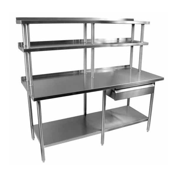 Glastender TAB-W Work Table,  stainless steel construction,  ETL-Sanitation