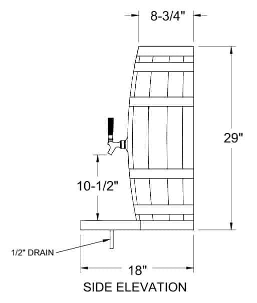 Glastender WB-4-BR Wood Barrel Draft Dispensing Tower