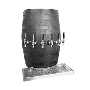 Glastender WB-6-B Wood Barrel Draft Dispensing Tower