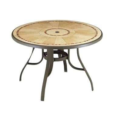 Grosfillex 52236137 Louisiana Outdoor Pedestal Table
