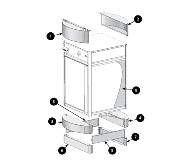 Hatco FDWD-1CB One curved front panel