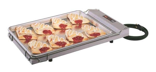 "Hatco GR-B Glo-Ray® Aluminum and Stainless Steel 12.75""W x 22""D Heated Shelf Food Warmer - 120 Volts / 250 Watts"