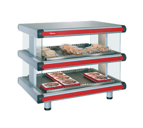 "Hatco GR2SDH-36D Designer Horizontal Display Warmer, 42.25"" W x 27"" D x 29.05"" H, with (2) Shelves and Thermostatic Controls - 120/208 Volts"