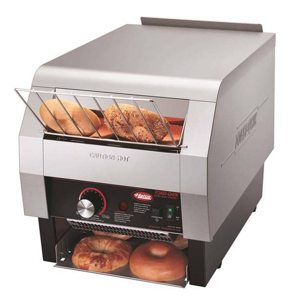 """Hatco TQ-800BA Conveyor Toaster, Horizontal with 2"""" Opening and Infinite Controls - 208 Volts, 3280 Watts, 840 Slices Per Hour"""