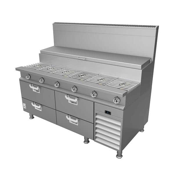 """Hestan HRBRC48 48"""" 4 Drawer Refrigerated Chef Base with Marine Edge Top - 120 Volts"""