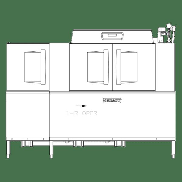 Hobart Hobart CLPS86EN-ADV+BUILDUP Conveyor Dishwasher