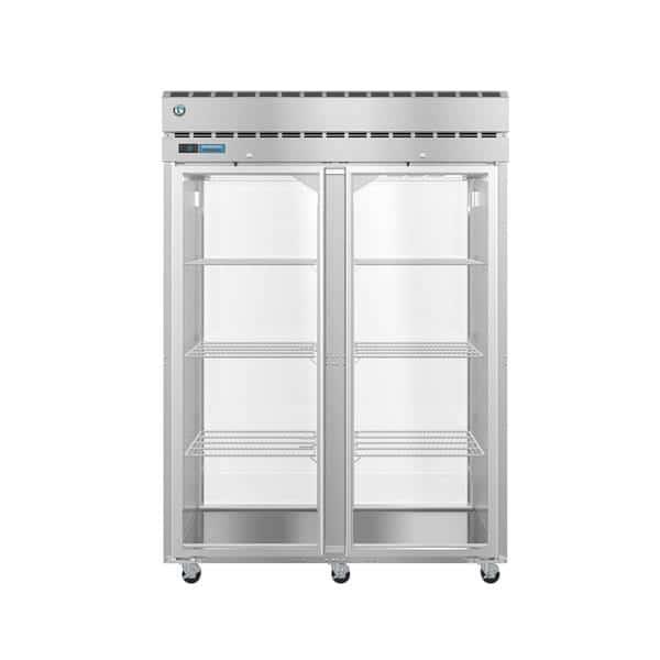 Hoshizaki Hoshizaki PT2A-FG-FG 55.00'' 52.5 cu. ft. 2 Section Glass Door Stainless Steel Pass-Thru Refrigerator