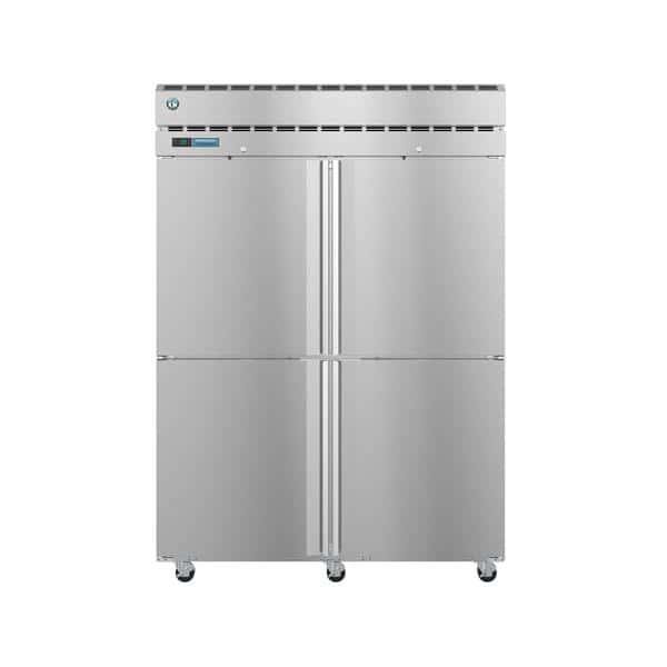 Hoshizaki Hoshizaki PT2A-HS-HS 55.00'' 52.5 cu. ft. 2 Section Solid Half Door Stainless Steel Pass-Thru Refrigerator