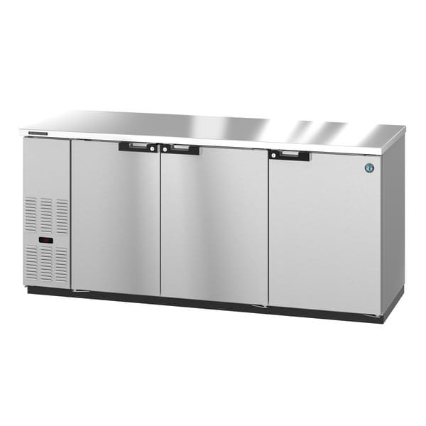 Hoshizaki Hoshizaki BB80-S Silver 3 Solid Door Refrigerated Back Bar Storage Cabinet, 115 Volts