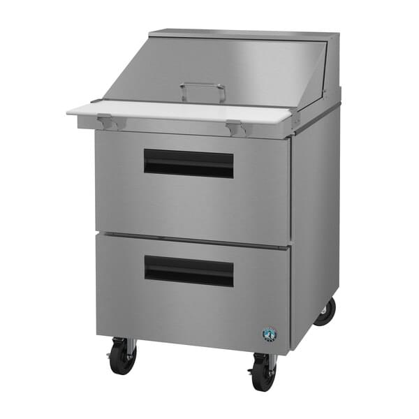 Hoshizaki SR27A-12MD2 27'' 2 Drawer Counter Height Mega Top Refrigerated Sandwich / Salad Prep Table
