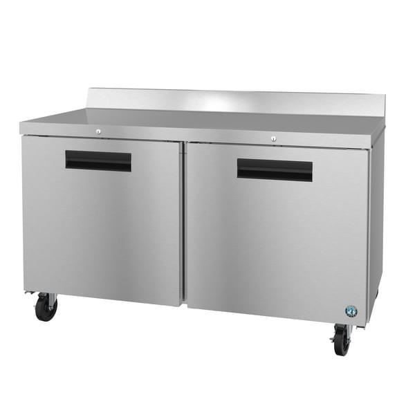 Hoshizaki WF60A-01 60'' 2 Door Counter Height Worktop Freezer with Front Breathing Compressor - 17.55 cu. ft.