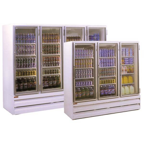 Howard-McCray Howard-McCray GF102BM-FF 103.75'' 102.0 cu. ft. 4 Section White Glass Door Merchandiser Freezer