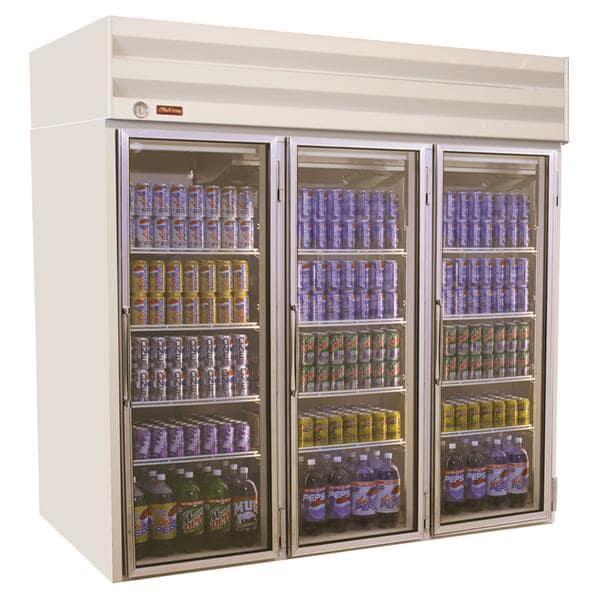 Howard-McCray GF75-LT-B 78.00'' 75.0 cu. ft. 3 Section Black Glass Door Merchandiser Freezer