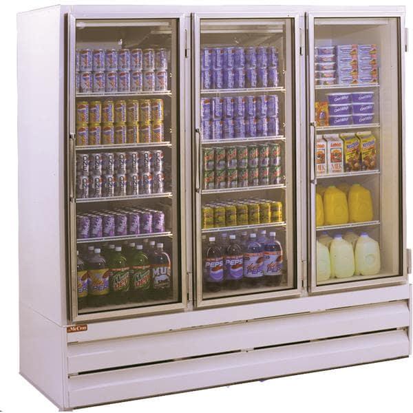 Howard-McCray Howard-McCray GF75BM-FF-B 78.00'' 75.0 cu. ft. 3 Section Black Glass Door Merchandiser Freezer