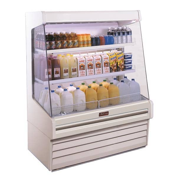 Howard-McCray R-OD30E-3L-LED 39.00'' White Vertical Air Curtain Open Display Merchandiser with 2 Shelves
