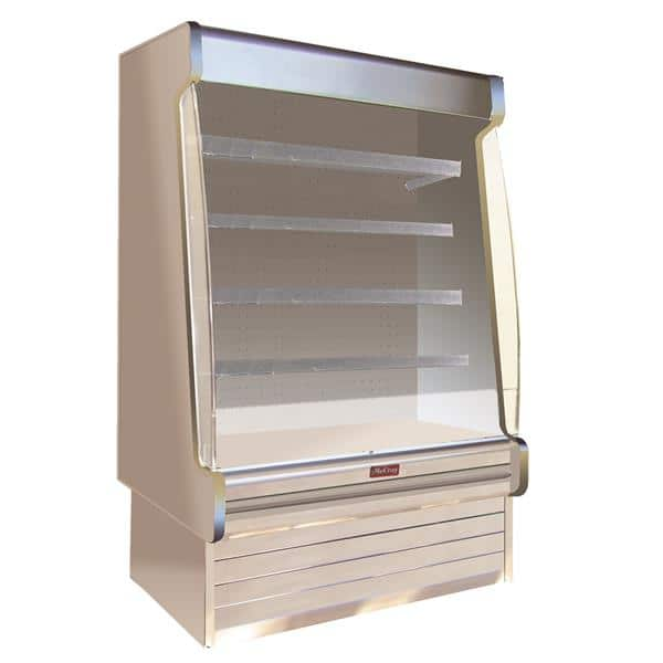 Howard-McCray R-OD35E-12S-S-LED 147.00'' Stainless Steel Vertical Air Curtain Open Display Merchandiser with 4 Shelves