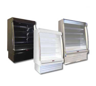 Howard-McCray R-OD35E-3S-LED 39.00'' White Vertical Air Curtain Open Display Merchandiser with 4 Shelves