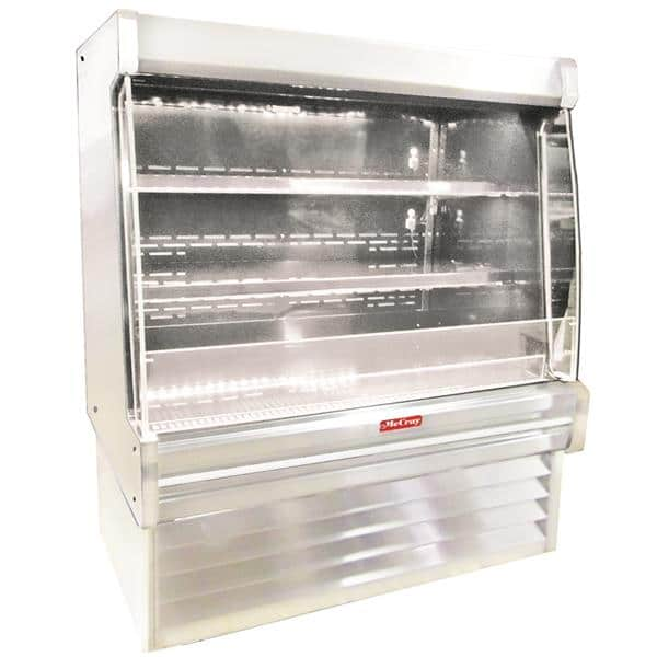 Howard-McCray R-OD35E-4L-S-LED 51.00'' Stainless Steel Vertical Air Curtain Open Display Merchandiser with 2 Shelves