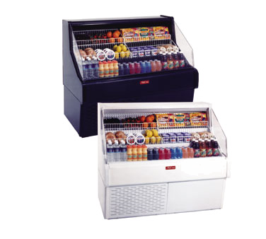 Howard-McCray R-OS30E-5C 63.00'' White Horizontal Air Curtain Open Display Merchandiser with 3 Shelves