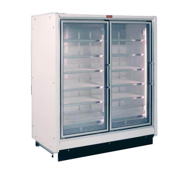 Howard-McCray RIF2-24-LED-S 54.88'' 125.0 cu. ft. 2 Section Silver Glass Door Merchandiser Freezer