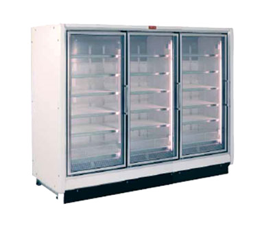 Howard-McCray RIF3-24-LED 78.88'' 177.0 cu. ft. 3 Section White Glass Door Merchandiser Freezer