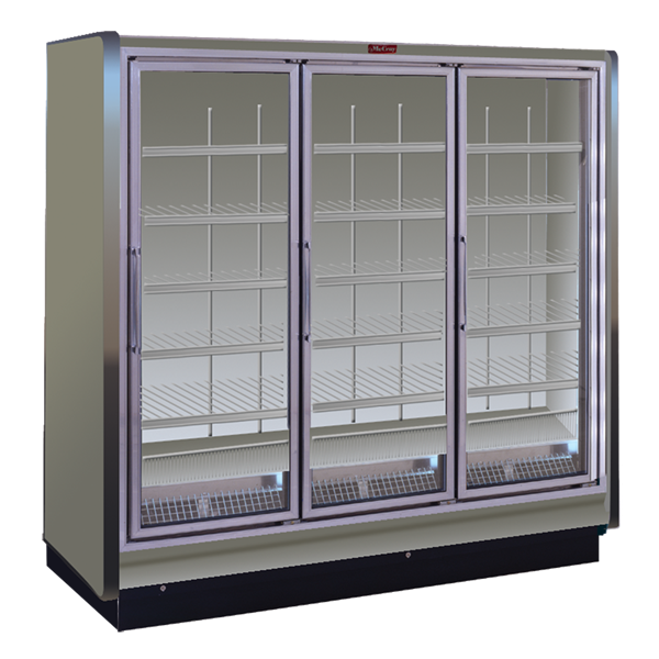 Howard-McCray RIN3-24-LED 78.88'' White 3 Section Swing Refrigerated Glass Door Merchandiser
