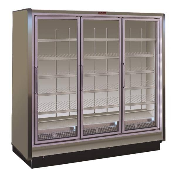 Howard-McCray RIN3-30-LED 98.50'' White 3 Section Swing Refrigerated Glass Door Merchandiser