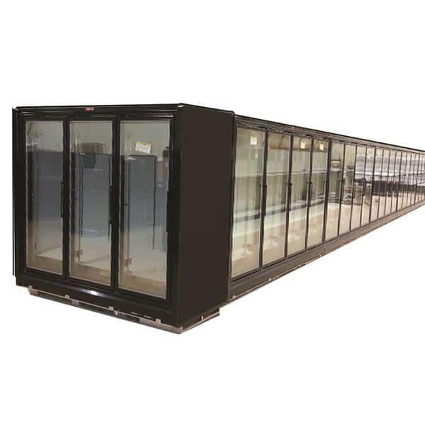 Howard-McCray RIN4-24-LED-B 102.38'' Black 4 Section Swing Refrigerated Glass Door Merchandiser
