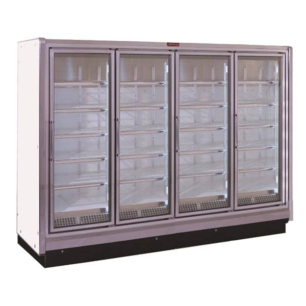 Howard-McCray RIN4-24-LED-S 102.38'' Silver 4 Section Swing Refrigerated Glass Door Merchandiser