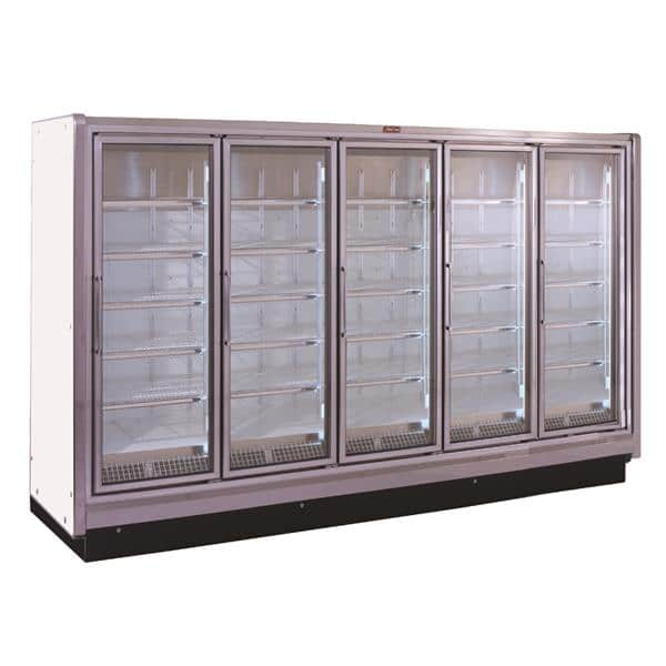 Howard-McCray RIN5-30-LED 162.00'' White 5 Section Swing Refrigerated Glass Door Merchandiser