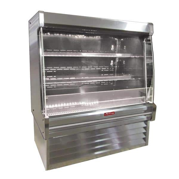 Howard-McCray SC-OD35E-6L-LED 75.00'' White Vertical Air Curtain Open Display Merchandiser with 2 Shelves