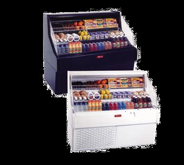 Howard-McCray SC-OS30E-4C-LED 51.00'' White Horizontal Air Curtain Open Display Merchandiser with 3 Shelves