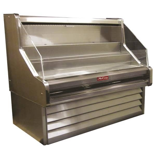 Howard-McCray SC-OS30E-5-S 63.00'' Stainless Steel Horizontal Air Curtain Open Display Merchandiser with 3 Shelves