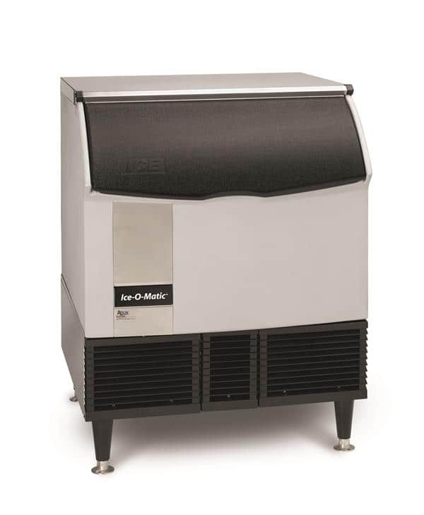 "ICE-O-Matic ICEU300HW 30"" Half-Dice Ice Maker With Bin, Cube-Style - 300-400 lb/24 Hr Ice Production, Water-Cooled, 115 Volts"