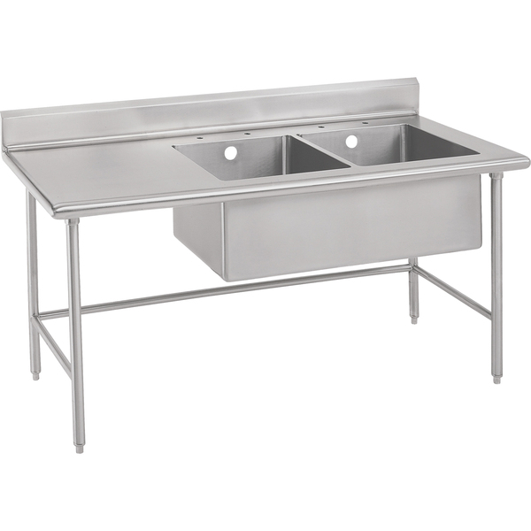 """IMC/Teddy WTBC-3036-16 Work Table, 16 Gauge Stainless Steel Top with Open Base and 5"""" Backsplash - 36""""W x 30""""D"""