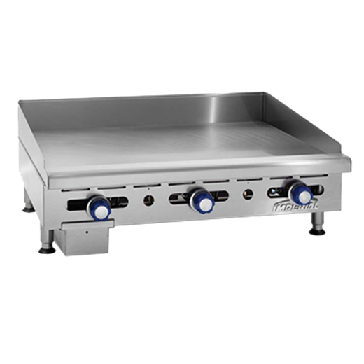 Imperial IMGA-3628-1 36'' Countertop Gas Griddle with Manual Controls - 90,000 BTU