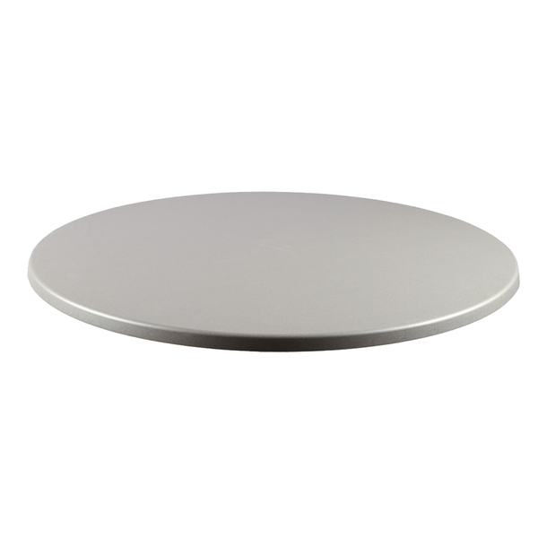 JMC Furniture 24 ROUND BRUSH SILVER Topalit Table Top