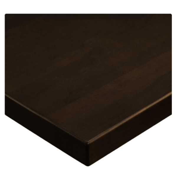 JMC Furniture 24X24 BEECHWOOD PLANK DARK WALNUT Table Top