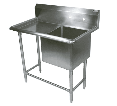 "John Boos 1PB30244-1D36L Commercial Sink, (1) One Compartment, 16 Gauge Stainless Steel Construction with Stainless Steel Legs and With Left-hand Drainboard - 70.19"" W"