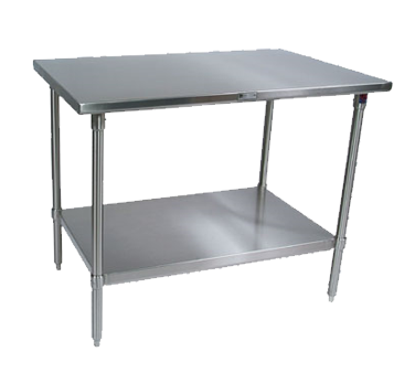 """John Boos ST6-3048SSK-X Work Table, 16 Gauge Stainless Steel Top with Stainless Steel Undershelf and without Backsplash - 48""""W x 30""""D"""