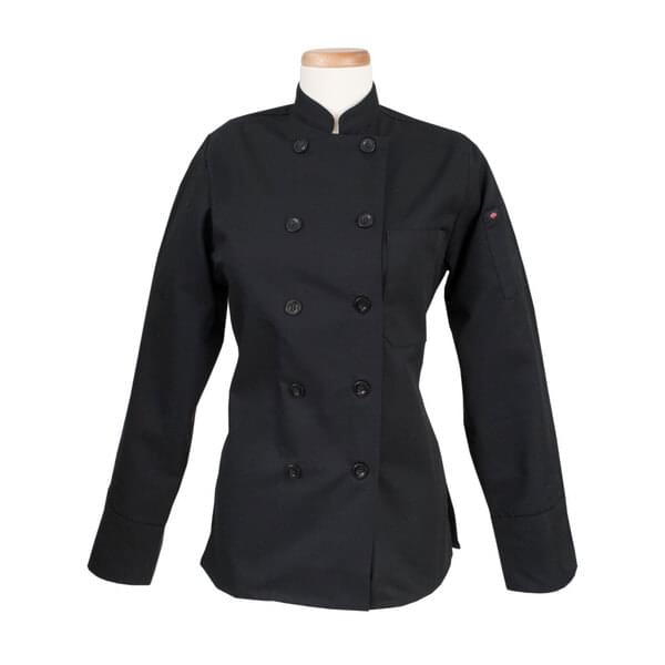 John Ritzenthaler Company RZWWCOATBKSM Women's Ritz® Kitchen Wears™ Chef's Coat
