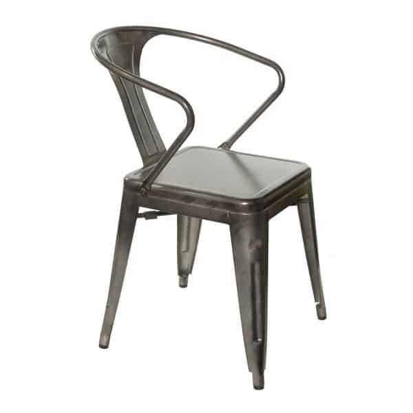 JustChair Manufacturing G42518A Industrial Collection Stacking Arm Chair