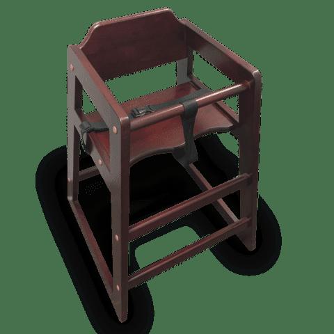 JustChair Manufacturing W001HI-NAT High Chair
