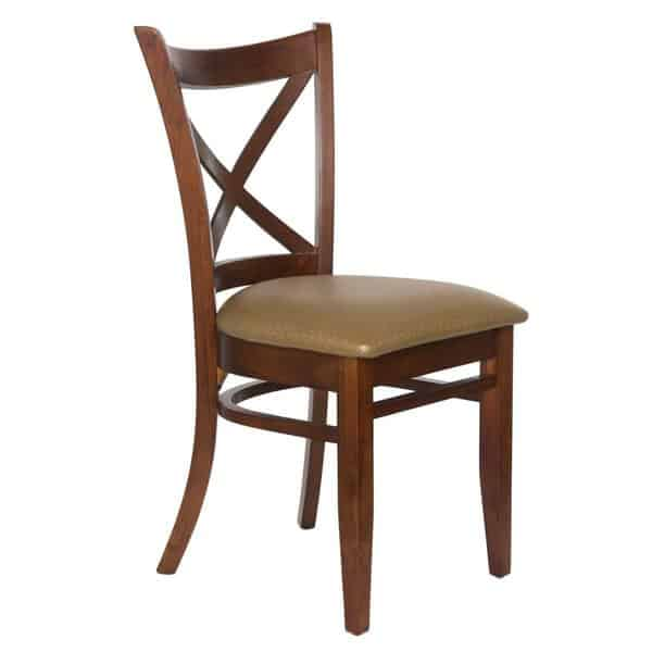 JustChair Manufacturing W36618-GR2 Side Chair  wood cross back