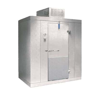 "Nor-Lake KLB77610-C 6' x 10' x 7'-7"" H Kold Locker Indoor Cooler with floor"