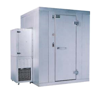 "Kolpak Kolpak P7-0604-CS-OA Walk-In Cooler 7'-6.25"" H, 5'-10"" W, 3'-11"" L with Era floor"
