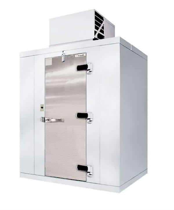 "Kolpak QSX7-1006-CT Walk-In Cooler 7'-3.75"" H, 9'-8"" W, 5'-10"" L floorless & Top Mounted Compressor"