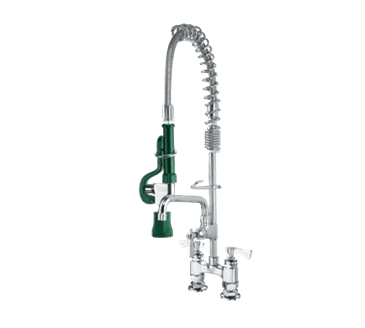 """Krowne Metal Metal 18-408L Krowne Royal Series Space Saver Pre-Rinse Assembly with Add-On Faucet with 8"""" Spout"""