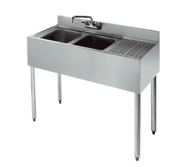 Krowne Metal Metal KR21-42L Royal 2100 Series Underbar Sink Unit