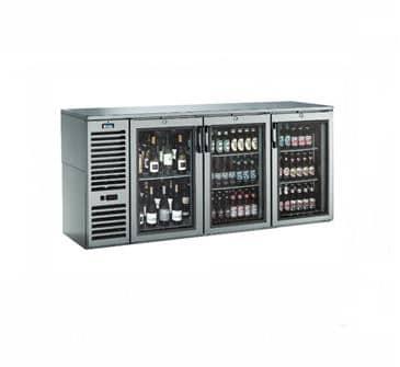 Krowne Metal Metal NS72R Narrow Door Refrigerated Back Bar Storage Cabinet